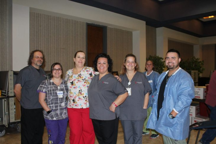 United Blood Services' staff in the Sundown Room in the Student Center on Sept. 7  BRANDI ORTIZ/PLAINSMAN PRESS