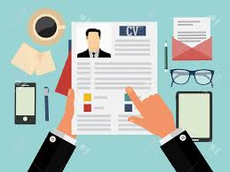 Job Interview Concept With Business Cv Resume Royalty Free Cliparts,  Vectors, And Stock Illustration. Image 36762097.
